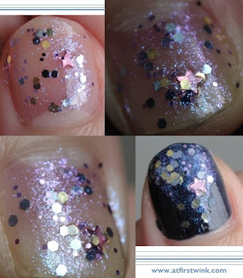 Modi Art Nails set no. 2 - Horoscopes Nail Collection: milky way