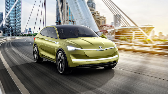 Pure electric: Skoda shows the Vision E in Shanghai