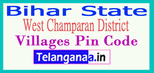 West Champaran Pin Codes in Bihar State