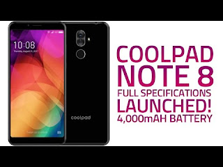 Coolpad Note 8 Full Specs