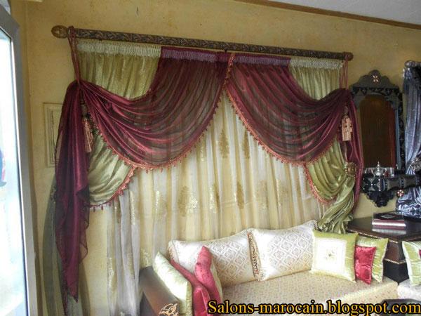 deux cache rideaux pour le salons marocain moderne 2013 d coration salon marocain moderne 2016. Black Bedroom Furniture Sets. Home Design Ideas