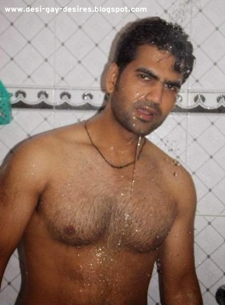Hairy Dude Having Some Fun Under Shower
