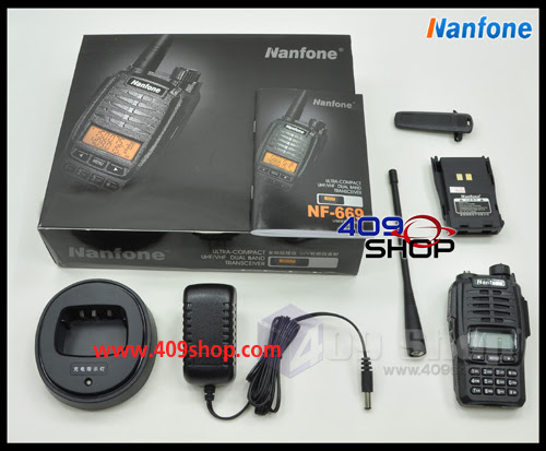 Nanfone NF669 136-174/400-470MHz Dual Band radio w/earpiece