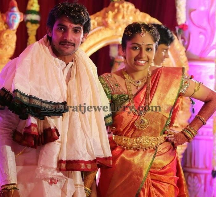 Actor Aadhi Wife Wedding Jewellery Jewellery Designs