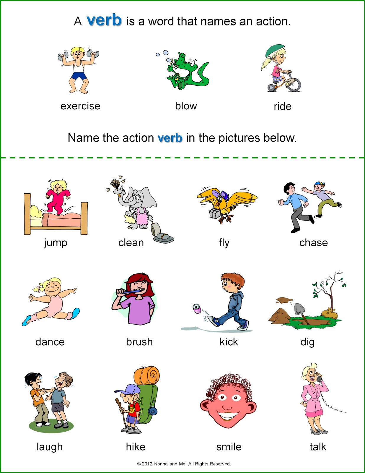 Verbs Worksheet Kindergarten kindergarten action verbs worksheet – Verbs Worksheet for Kindergarten