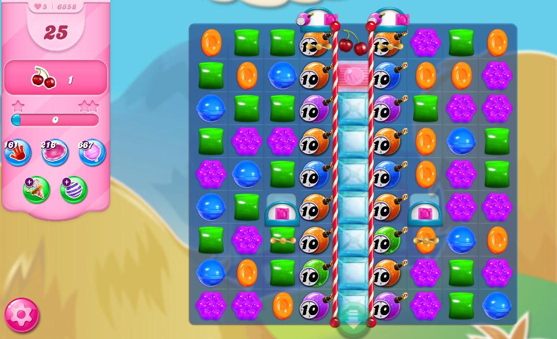 Candy Crush Saga level 6858