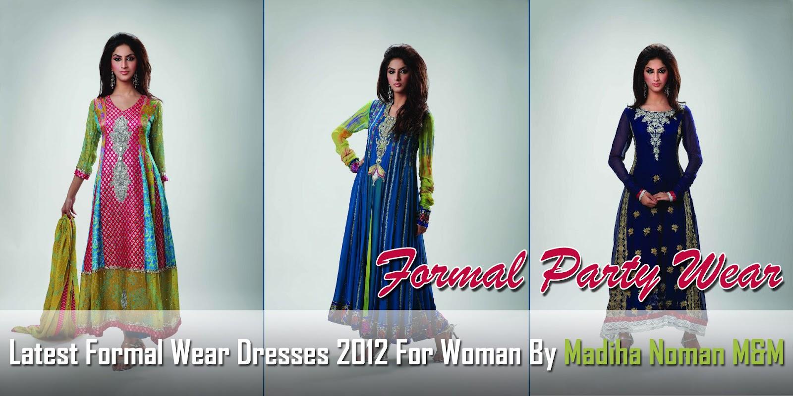 Latest Formal Wear Dresses 2012 For Womans By Madiha Noman MandM ...