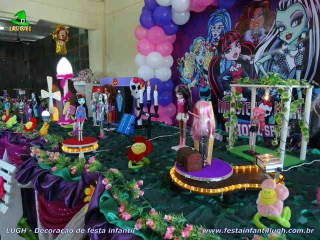 Mesa temática Monster High - Festa infantil