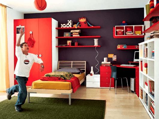 interior kamar tidur anak laki laki