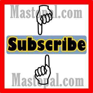ilustrasi tulisan subcribe mastopal.com