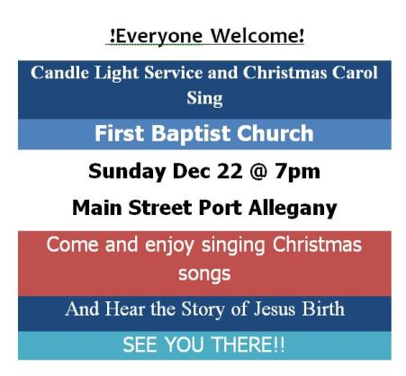 12-22 Candle Light Service
