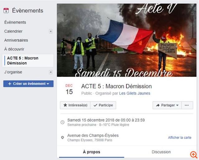 """""""Κίτρινα γιλέκα"""": Ραντεβού για την τελική επίθεση στις 15 Δεκεμβρίου"""
