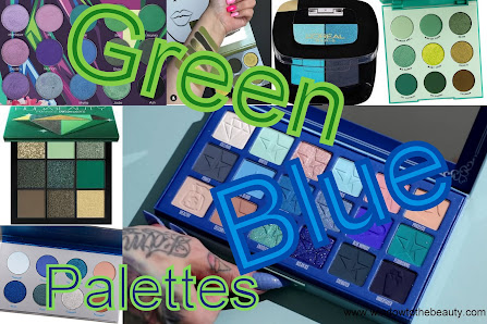 blue and green eyeshadow palette