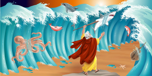 He Died For My Grins: Moses Parting The Red Sea
