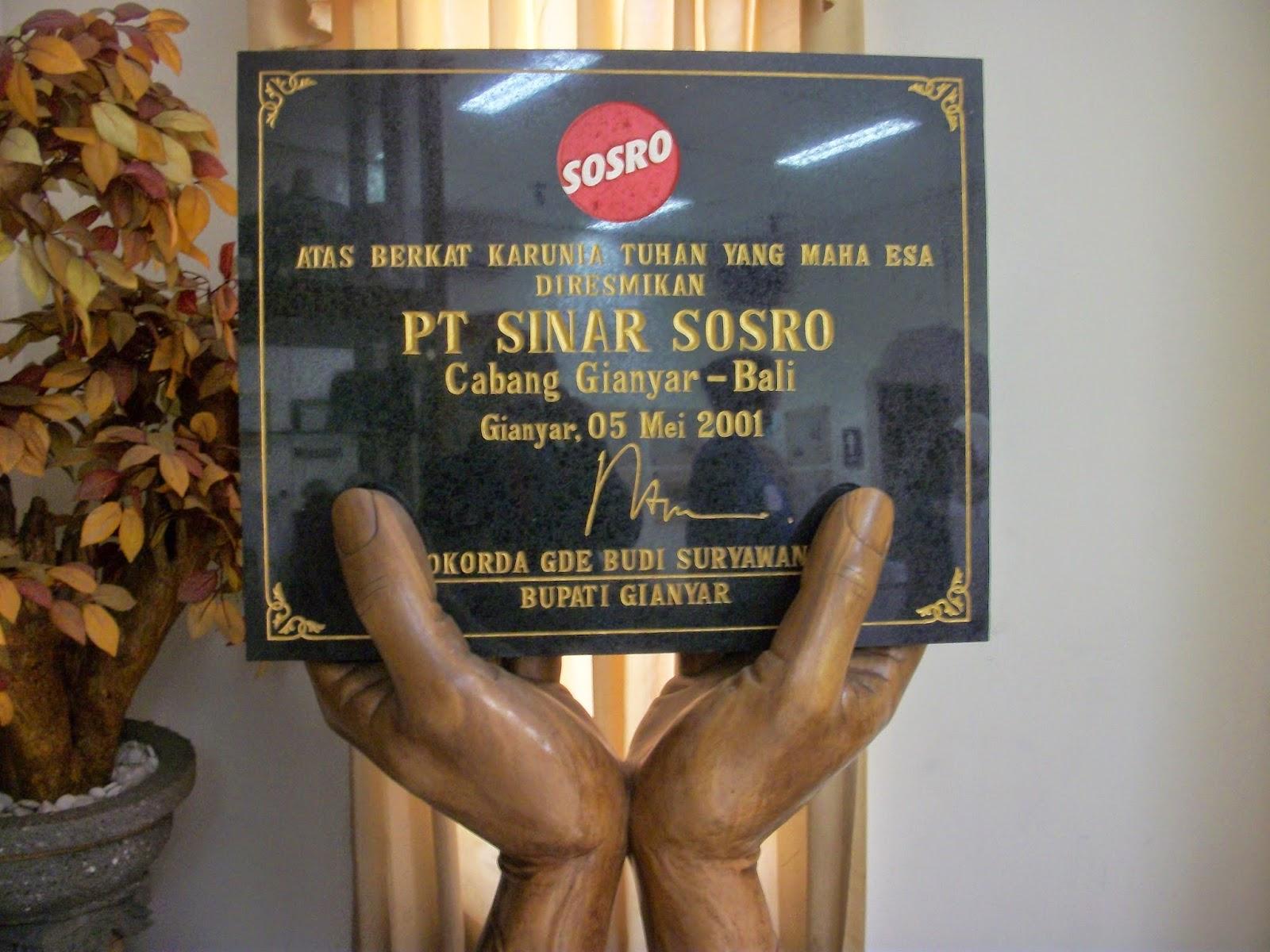 PT SINAR SOSRO INDONESIA Membuka Lowongan Kerja Terbaru 2019