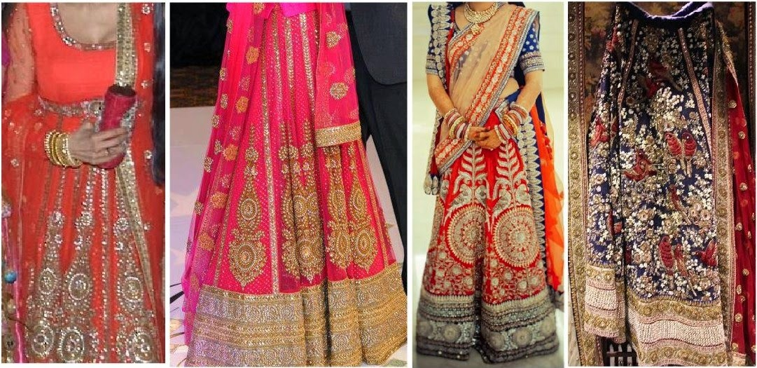 Red Kali Lehengas