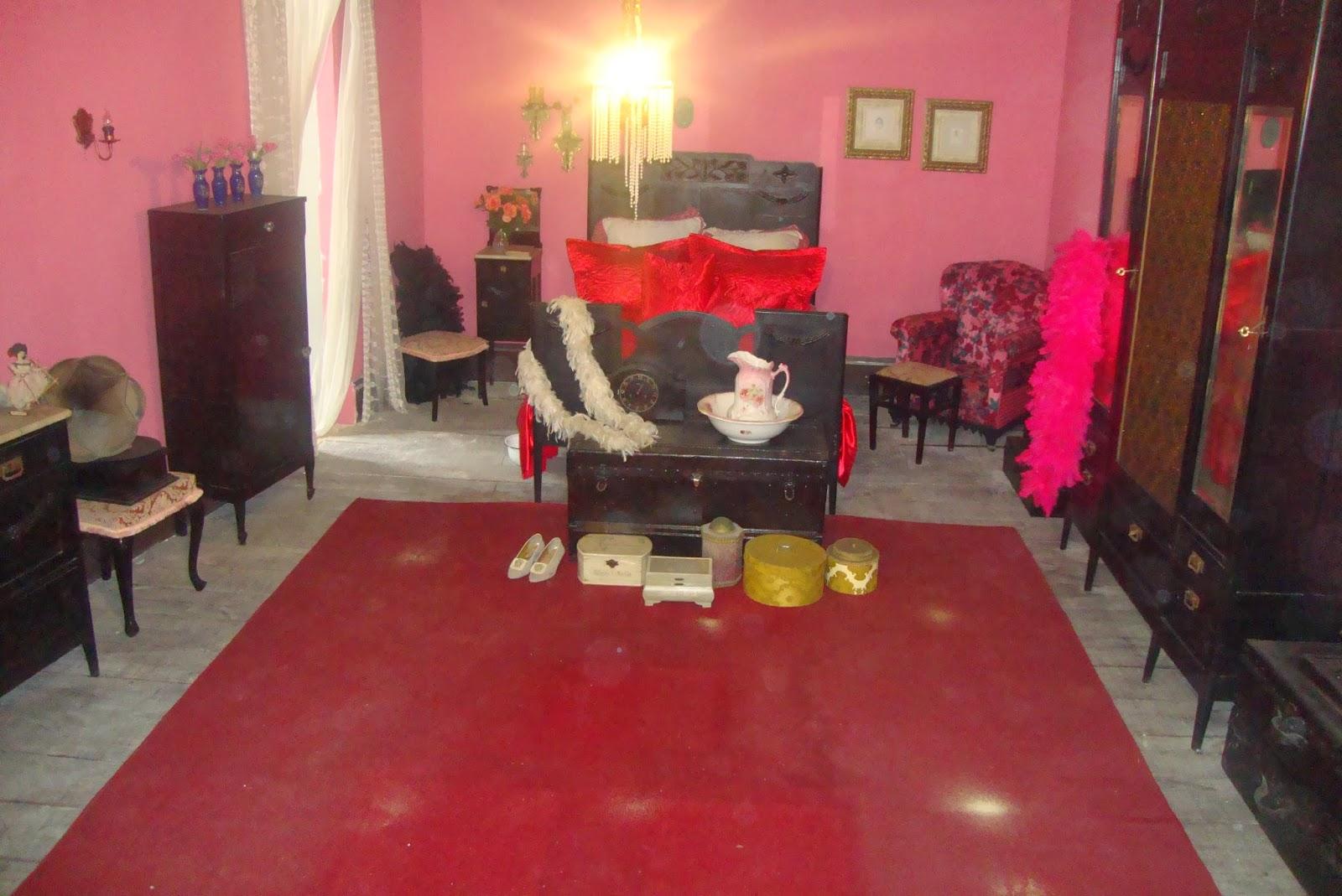 Reprodução do quarto de Maria Machadão, no Bataclan, em Ilhéus