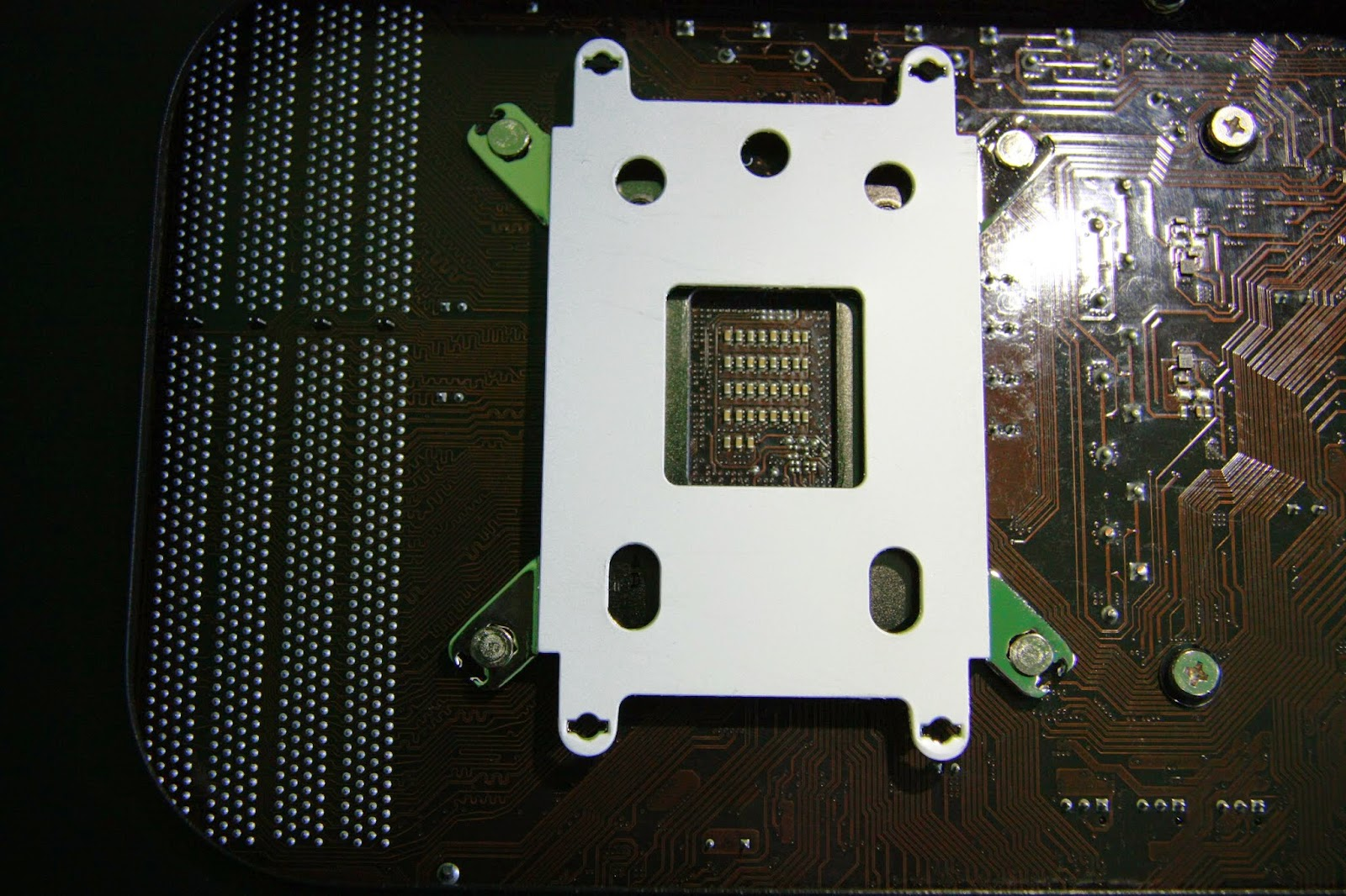Backplate Fortisa2 - zbliżenie