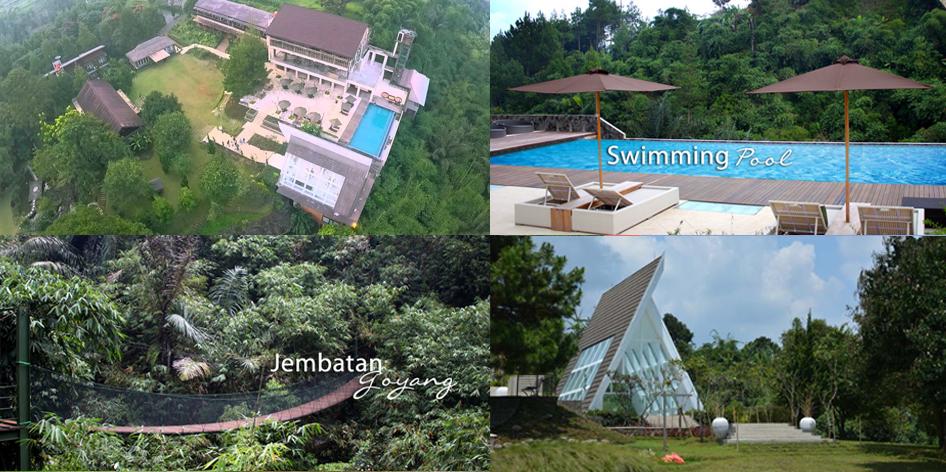 Jembatan goyang The Green Forest Resort Cisarua Lembang