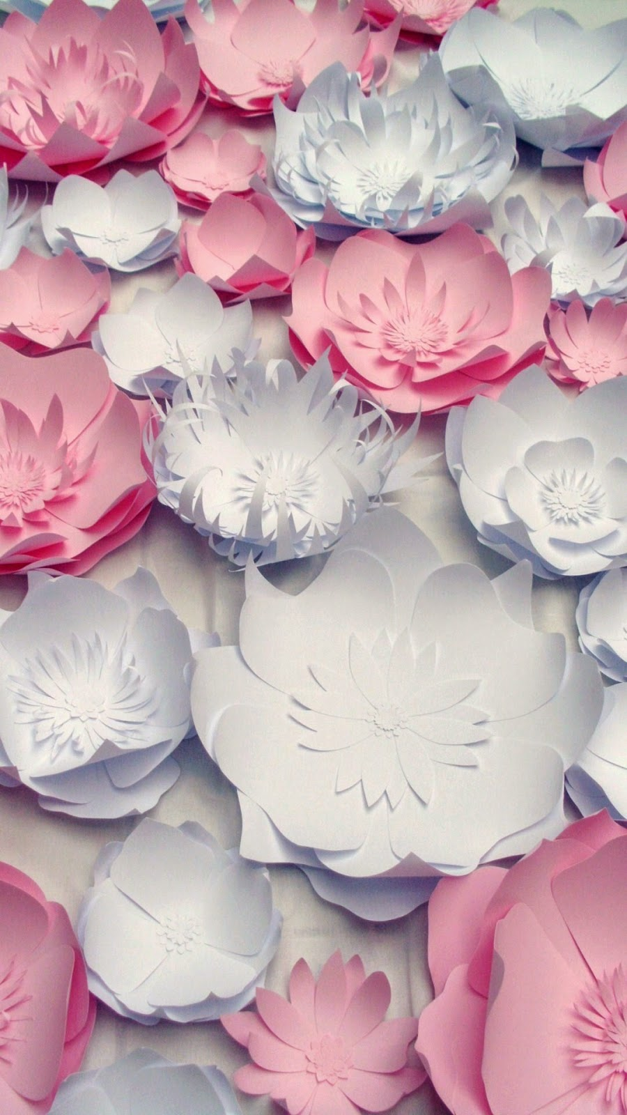 Large handmade paper flowers