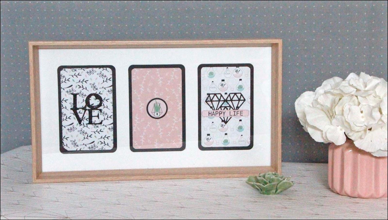 le blog de tacha cadre triptyque en enjoy. Black Bedroom Furniture Sets. Home Design Ideas