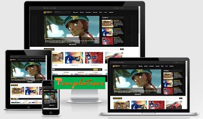 Screenshot Template Blogger TubeMag - Templatiser