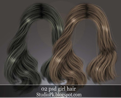 02 Psd Girl Hair Download