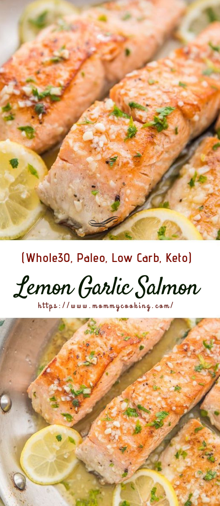 Lemon Garlic Salmon #lunch #dinnerrecipe