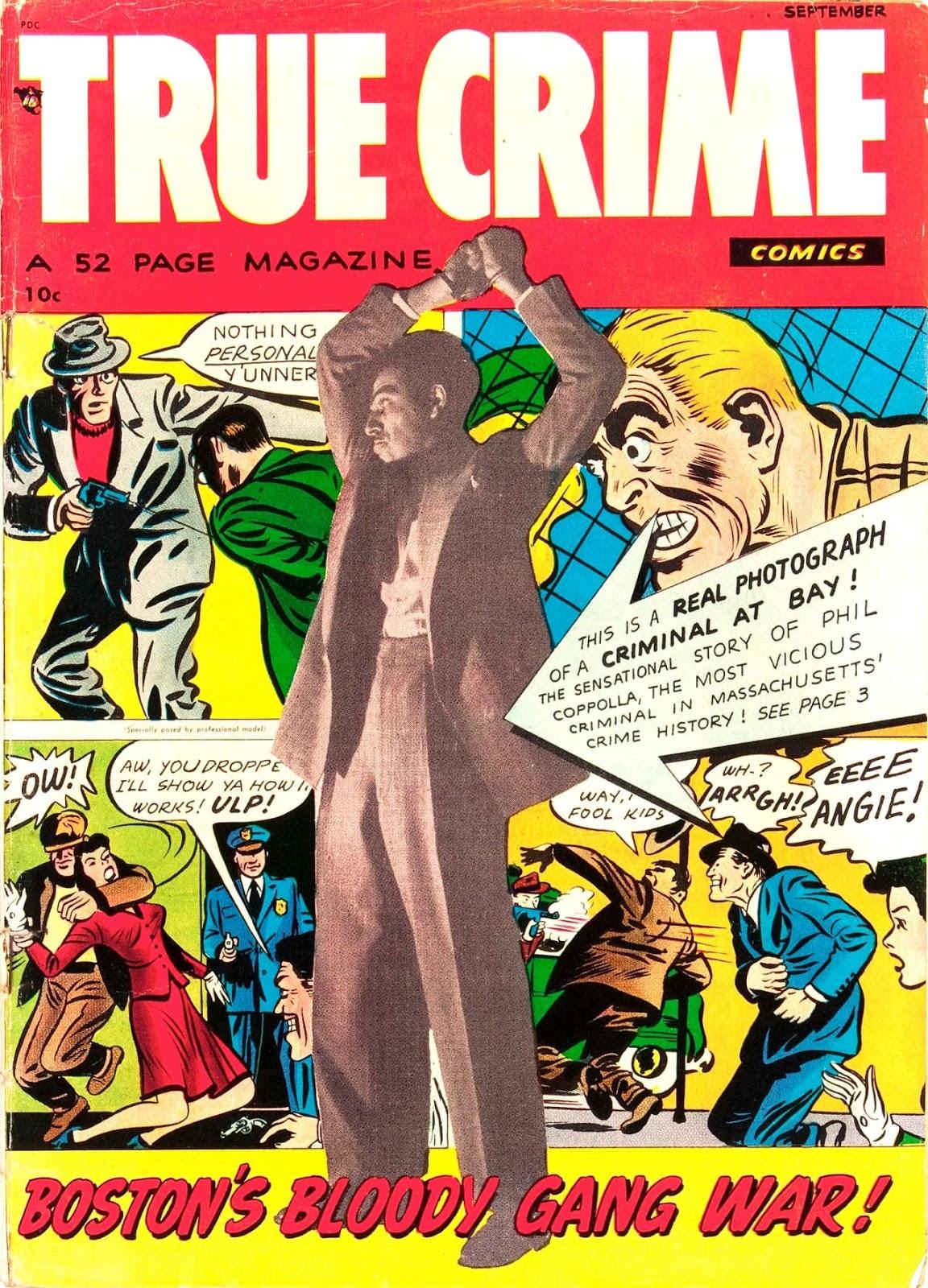 True Crime Comics #1 golden age 1940s comic book cover