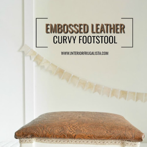How To Beautify A Curvy Embossed Leather Footstool