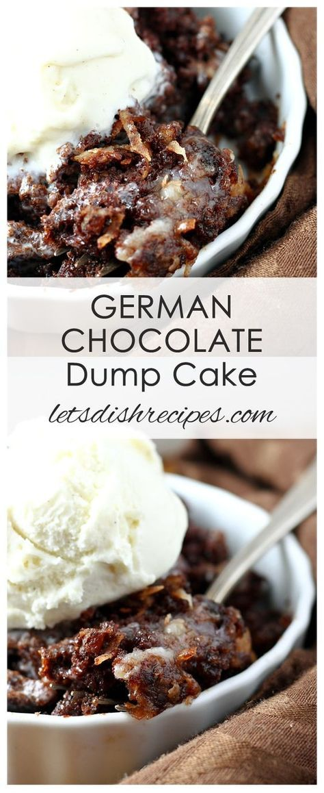 A quick, easy version of German chocolate cake, complete with a layer of coconut and chopped pecans.