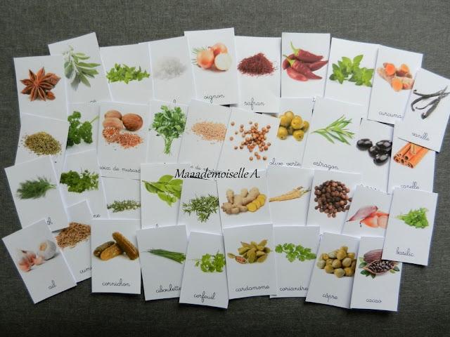 || Cartes de nomenclature ; Aromates, condiments et épices