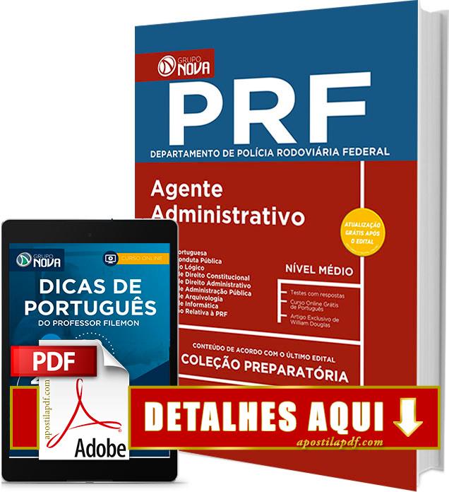 Apostila PRF 2017 Agente Administrativo Impressa