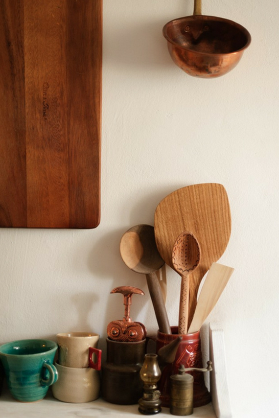 wooden kitchen details