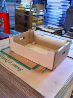 Cajas para frutas y verduras automontables para 10 kg