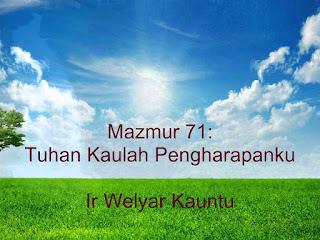 Chord LAgu Rohani : MENJADI S'PERTI KAU YESUS - Ir. Welyar Kauntu