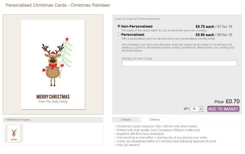 personalised Christmas cards from thecardgallery.co.uk @ ups and downs, smiles and frowns