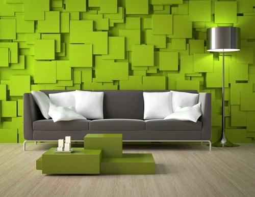 Contoh Ruang Tamu Dengan Nuansa Warna Hijau Yang Menyegarkan
