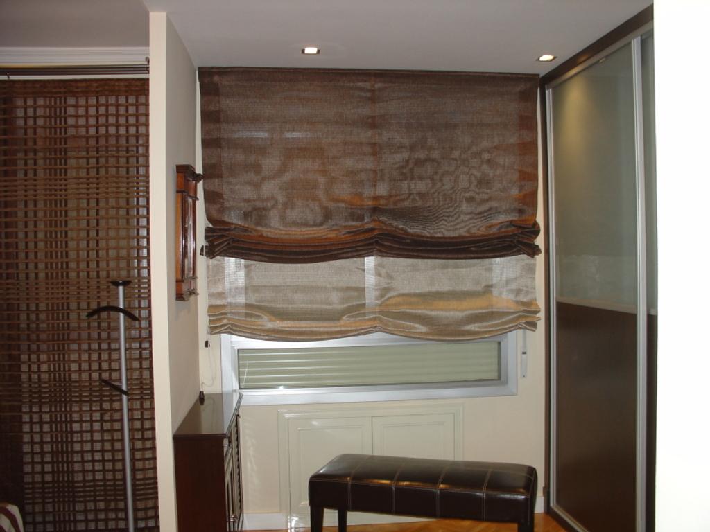 Estores cortinas modernas para tus ventanas cocinas - Estor con cortina ...