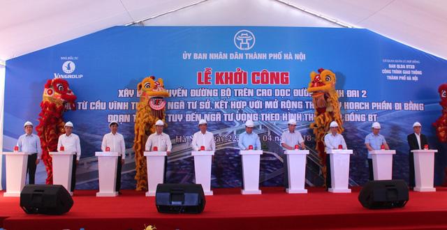 Khởi công đoạn đường vành đai 2 nối Ngã tư Sở - cầu Vĩnh Tuy