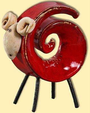 Zakręcony baran ceramiczny