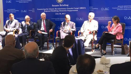کنفرانس در سنای آمریکا: «مقابله با دخالتهای منطقهیی و سرکوب داخلی سپاه پاسداران