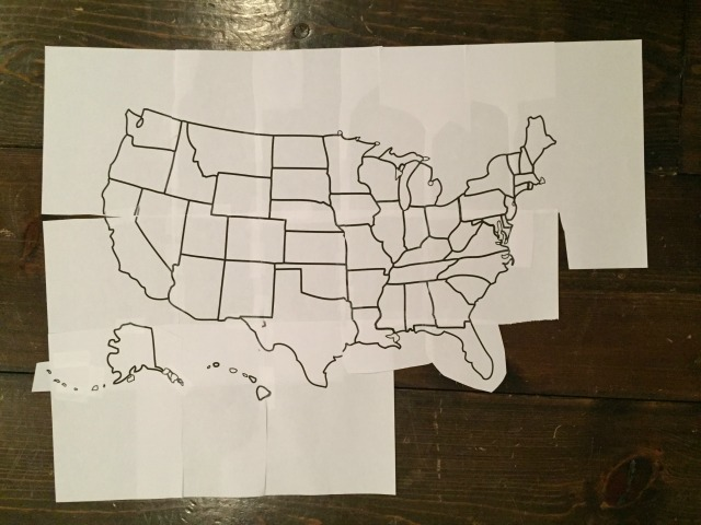 usa map free printable pattern