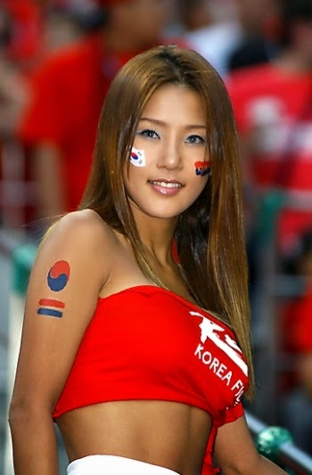 World Cup Brazil 2014: sexy hot girls football fan, beautiful woman supporter of the world. Pretty amateur girls, pics and photos   Corea Sur coreana