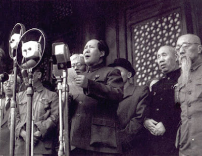Mao Proclaiming the Establishment of the People's Republic of China