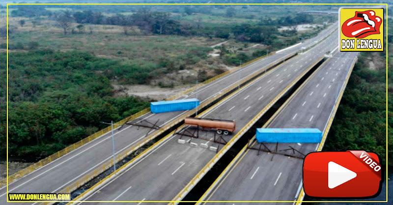Militares de maduro bloquearon totalmente el puente Tienditas en Cúcuta
