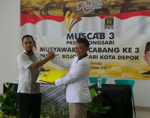 Rovi Octaviano Ketua DPC PKS Bojongsari Terpilih Periode 2017-2020