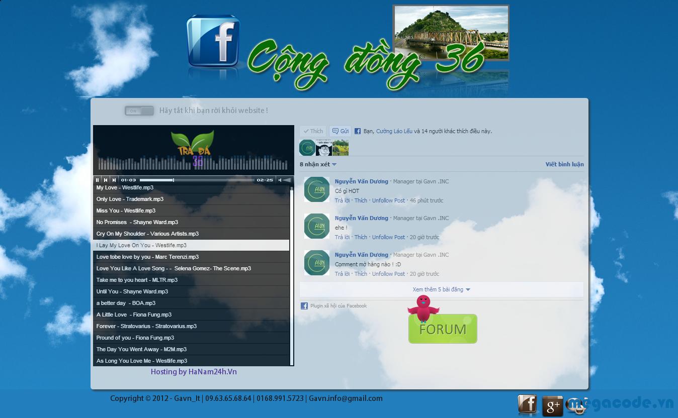 Code HTML 360 trà đá đẹp mắt cho các bạn làm Blog Cá nhân