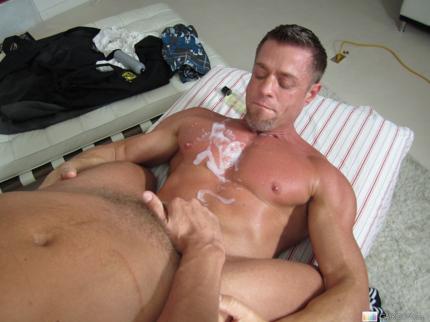 Jacking off cock