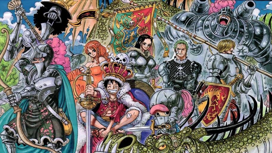 One Piece, Straw Hat Pirates, Knights, Armor, 4K, #6.140